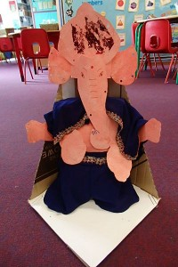 Ganesh ready to be dressed and adorned